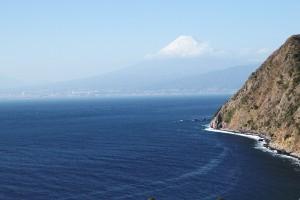 駿河湾ごしの富士山